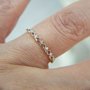 Jewelry - Dainty 14k Yellow Gold Wedding Band Stackable Ring